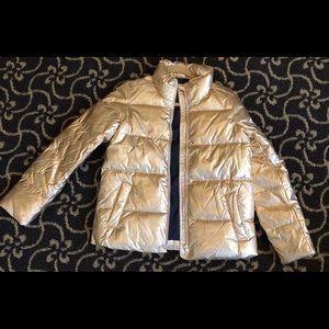 NWT!  J. Crew Rose Gold Puffer Jacket -XS